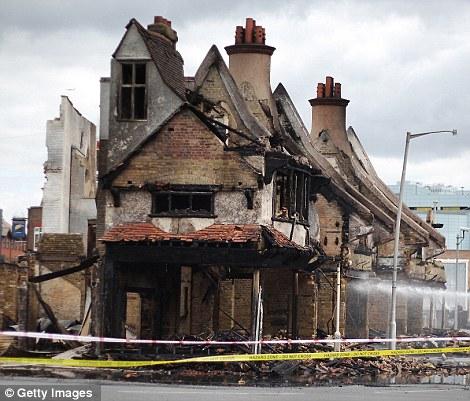 Reeves Corner after the devastating fire