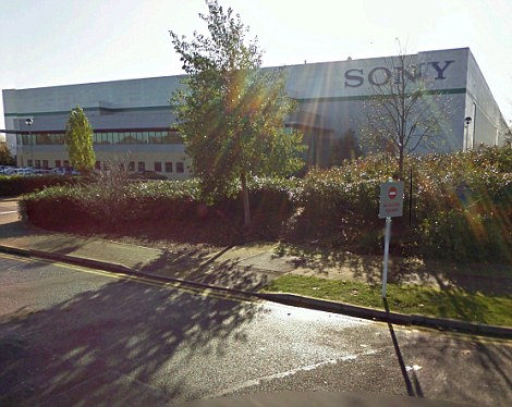 The Sony warehouse in Enfield was targeted by thugs