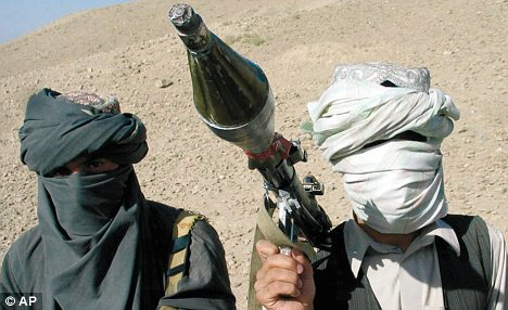 Hostile: But anti-western forces often funnel off aid money through Afghanistan's political corruption