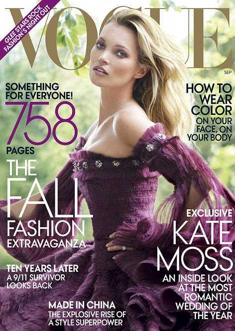 See full details of the wedding in the September Issue of American Vogue