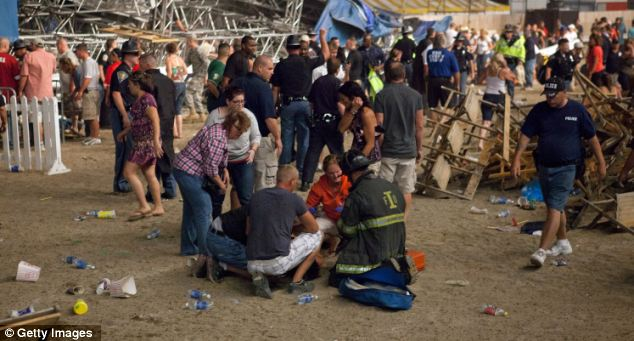 Aftermath: People continue to be treated as the clean up began last night