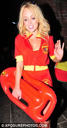 Babewatch: The Hollyoaks stunner dressed as a lifeguard for co-star Alice Barlow's birthday bash