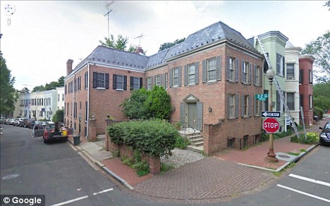 Tragic: The home of Albrecht Muth and Viola Drath in Washington's fashionable Georgetown neighborhood