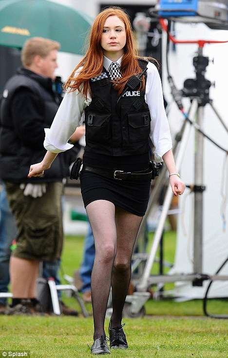 Kooky sidekick: Karen's character Amy Pond spiced up the series with her stunning red hair and long legs  back in series five