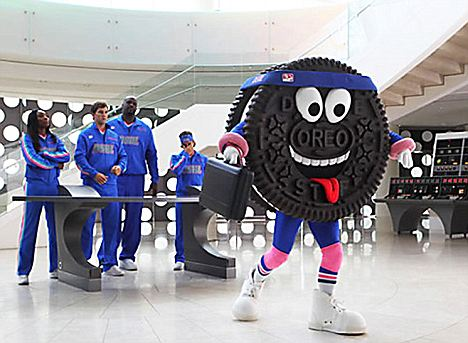 On the run:  Despite its large size, Kraft plans to promote the cookie with athletic endorsers
