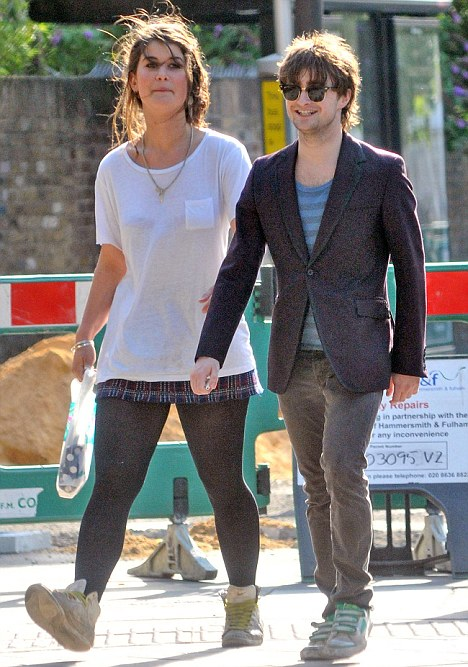 Just friends: Radcliffe was erroneously linked with Olive Uniacke earlier this year b