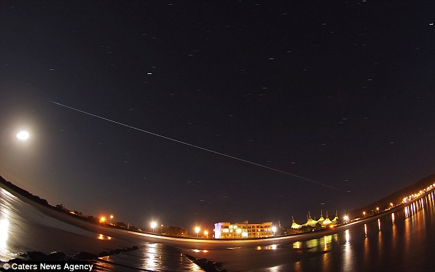 British photographer Mark Humpage captured the International Space Station flying over Britain and a magnificent meteor shower all in one night