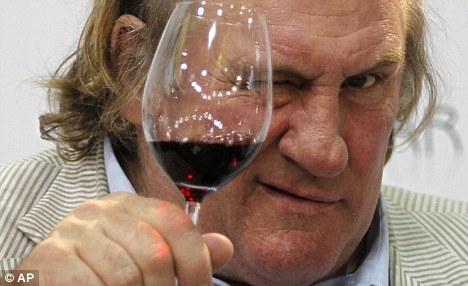 Bon viveur: For Depardieu, the glass has always been half full