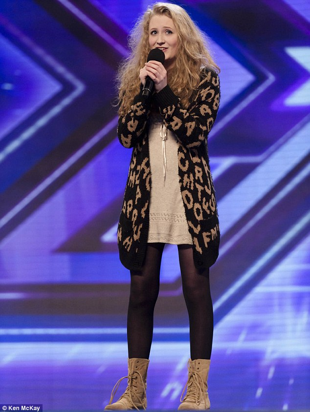 Early frontrunner: Shy Janet Devlin will get a standing ovation when the new series of the X Factor starts tomorrow night