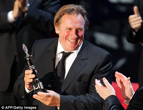 Star quality: Despite his known love for hellraising and drink, Depardieu, seen here at the Moscow Film Festival in 2006, is still France's most famous actor