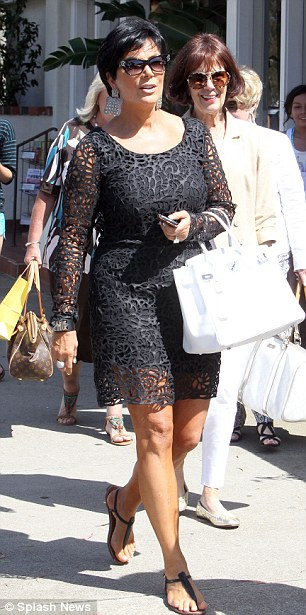 The wedding party: Kourtney will be co-matron of honour alongside sister Khloe, while Kris is mother of the bride
