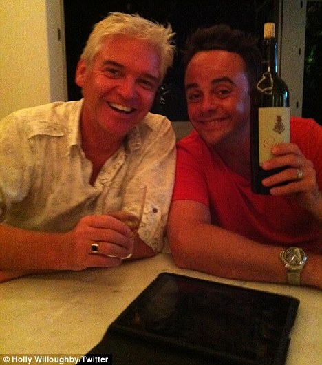 Boozy night: Willoughby revealed they were partying with Ant McPartlin