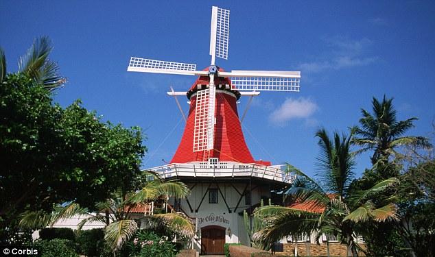 A windmill in Aruba