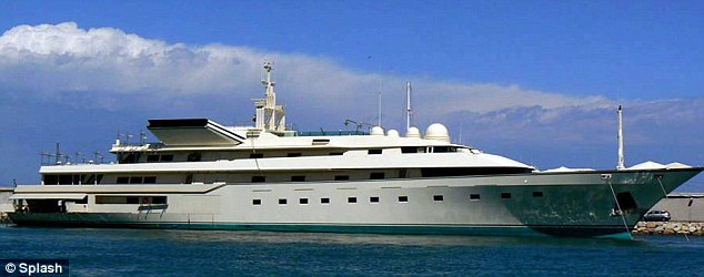 This port ain't big enough for the both of us: The super yacht of Saudi Prince Al-Waleed bin Talal Alsaud was already moored in Antibes preventing Abramovich from parking his vessel