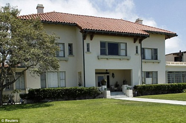 Tragic home: The historic 27-room Spreckels mansion in Coronado, an affluent suburb of San Diego, where Jonah Shacknai's girlfriend was found hanging naked