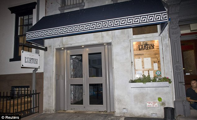 L'Artusi restaurant in Manhattan where Mr Strauss-Kahn celebrated with his wife and daughter