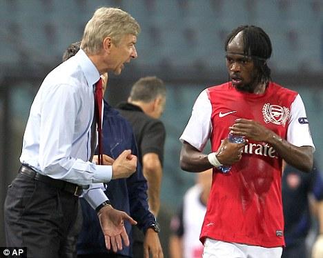 Signing on: Wenger's major summer deal brought Gervinho to the Emirates