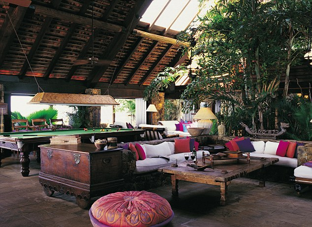 Luxury: Richard Branson's island home provided everything a guest could possibly desire