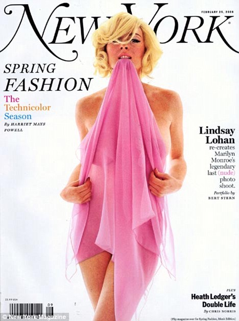 No. 1 fan: The actress paid homage to Monroe in New York Magazine in 2008
