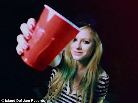 Cameo: Snippets of Avril Lavigne's song feature on the track, and the singer appears in the video