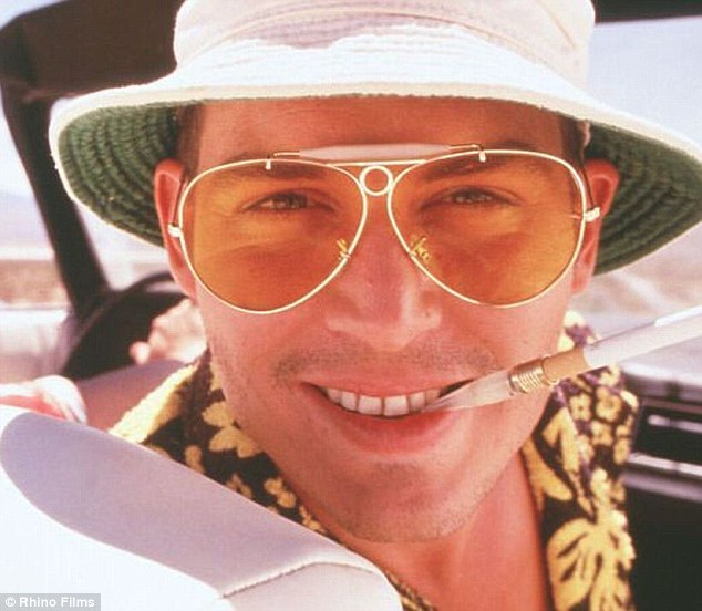 Acclaimed: Johnny Depp's turn as Hunter S Thompson's alter-ego Raoul Duke helped the Fear and Loathing in Las Vegas become a cult favourite despite flopping at the box office