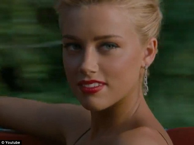 Pretty: Sexy Amber Heard is convincing as a femme fatale in the upcoming box office hit