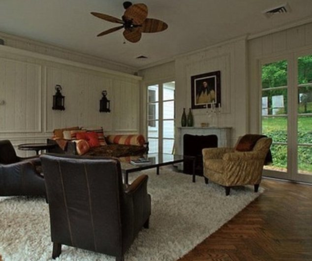 Take a seat: As well as boasting four bedrooms and four bathrooms the mansion has a number of sitting rooms too