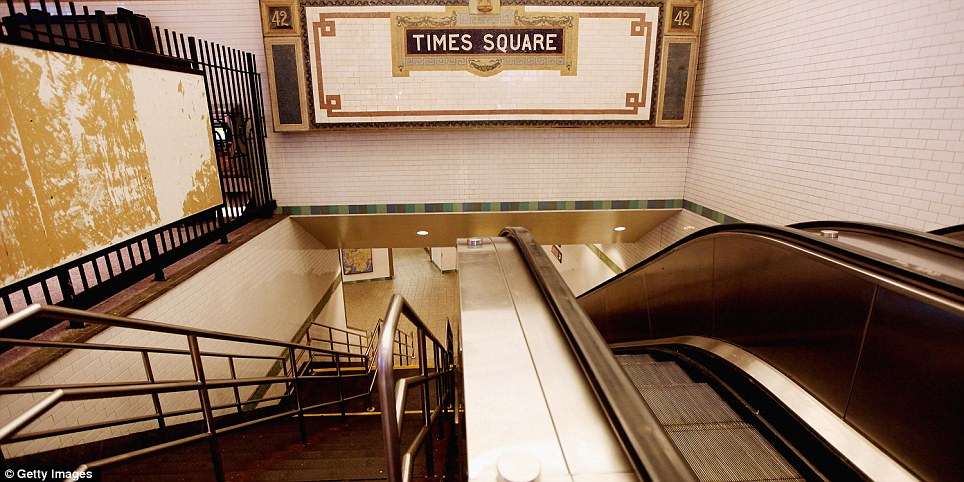 No go area: In the city that never sleeps, The Times Square subway station is spookily silent