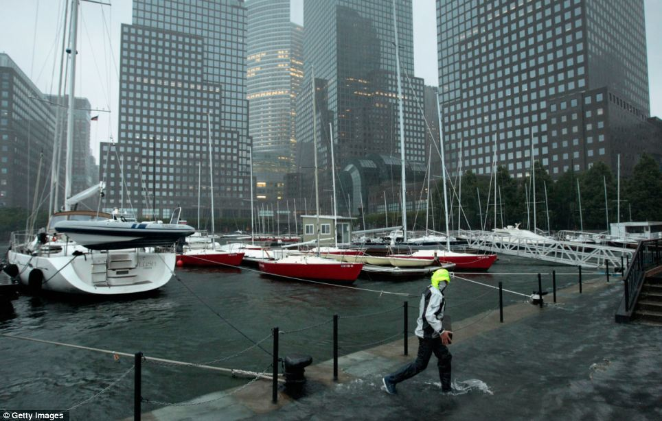 Barely overflowing: The rivers broke their banks but New York is spared the worst of Irene