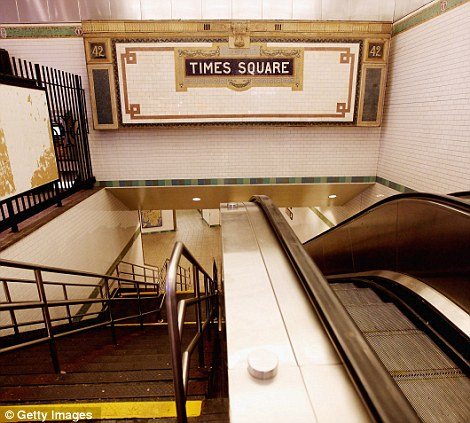 Deserted: Times Square subway