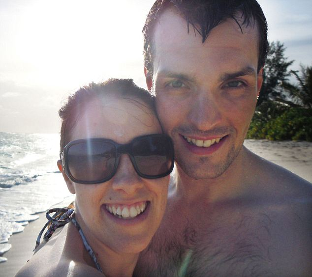 Smiling newlyweds Ian and Gemma on a beach in the Seychelles during their honeymoon, days before the fatal attack