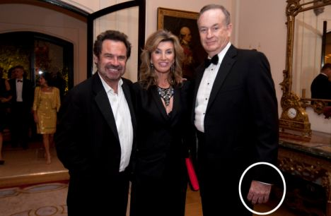Bare fingered: O'Reilly is seen in this photograph without a wedding ring