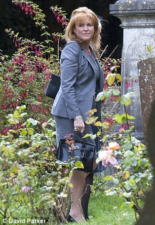 The Duchess of York attending a memorial service for constituency chairman Christopher Shale