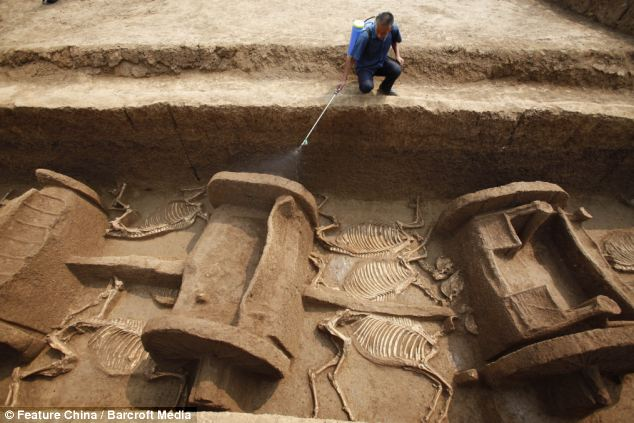 Historical riches: Apart from the physical objects uncovered in the tomb, historians now have a richer understanding of funeral rites and customs of the Zhou dynasty