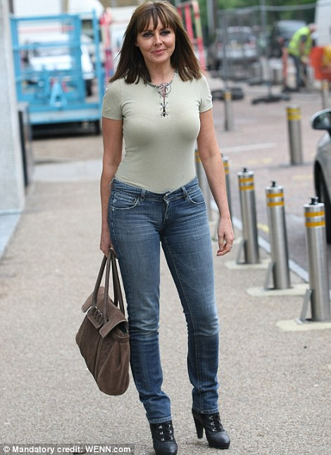 Fashion flop? Carol leaving the Lorraine studio in the casual outfit that has divided opinion