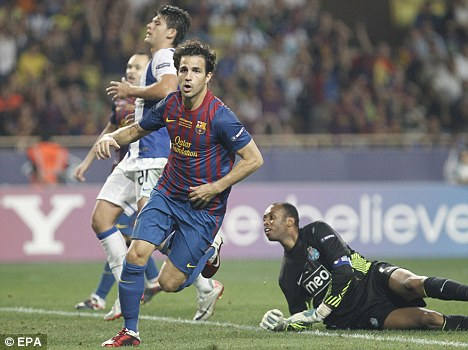 Home sweet home: Cesc Fabregas is back at his boyhood club