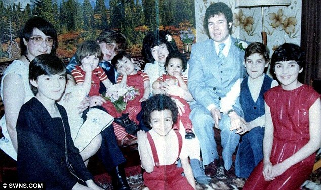 Twisted: Fred and Rose West at the wedding of their daughter Anne-Marie (pictured left of her father)