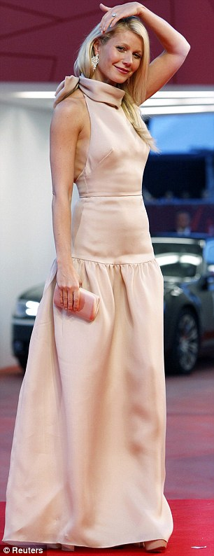 Prada princess: The 38-year-old actress looks dewy and fresh while premiering her new film, Contagion, in Venice