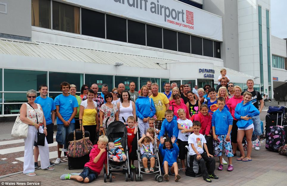 Departures: Residents from Coronation Avenue proved good neighbours can become good friends by holidaying together