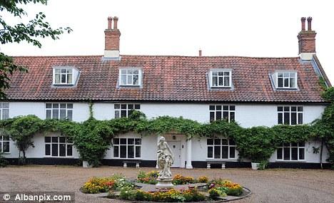 Elegant: Mrs Mason's listed manor house in the village of Worlingham