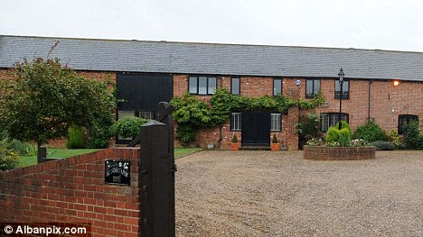 Stylish: The O'Donnells' £1million barn conversion has six bedrooms