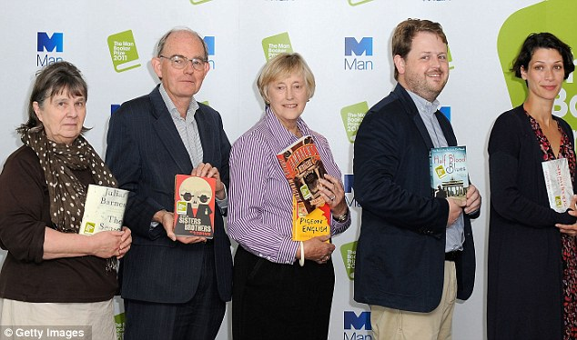 The judging panel: From left, Susan Hill, Chris Mullin, Dame Stella Rimington, Matthew d'Ancona, and Gaby Wood