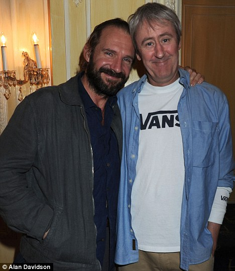 Growing friendship: Ralph and Nicholas pictured last week during the first preview of the play