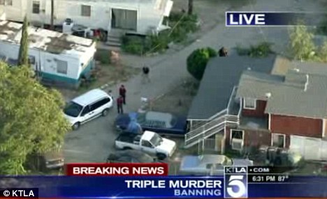 Scene: Three dead bodies were found at the house in Banning, near Los Angeles
