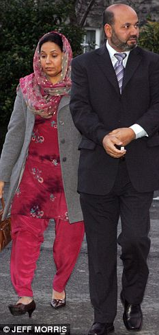 Farzana Ahmed Iftikar Ahmed  arrive at the inquest into the death of their daughter