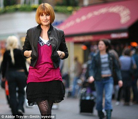 Miss Portas (pictured on London's Regent Street) said it would be 'bonkers' to believe that all town centres can be saved