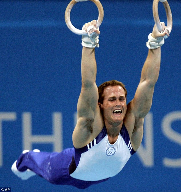 How he is best remembered: Hamm, pictured in action in 2004, is aiming to compete in London next year