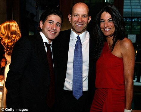 Enigmatic leader: Lutnick with his wife Allison and son Kyle