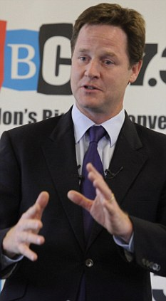 New job? Nick Clegg could be lined up for a role in Europe  a Tory party source has told Ephraim Hardcastle