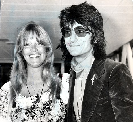 Swaps: Ronnie Wood and his first wife Krissie. George Harrison slept with her while the Rolling Stone slept with the Beatle's then wife Patti Boyd